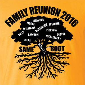 most reliable novel style better price for Custom Family Reunion T Shirts - Fast Printing at Wholesale ...